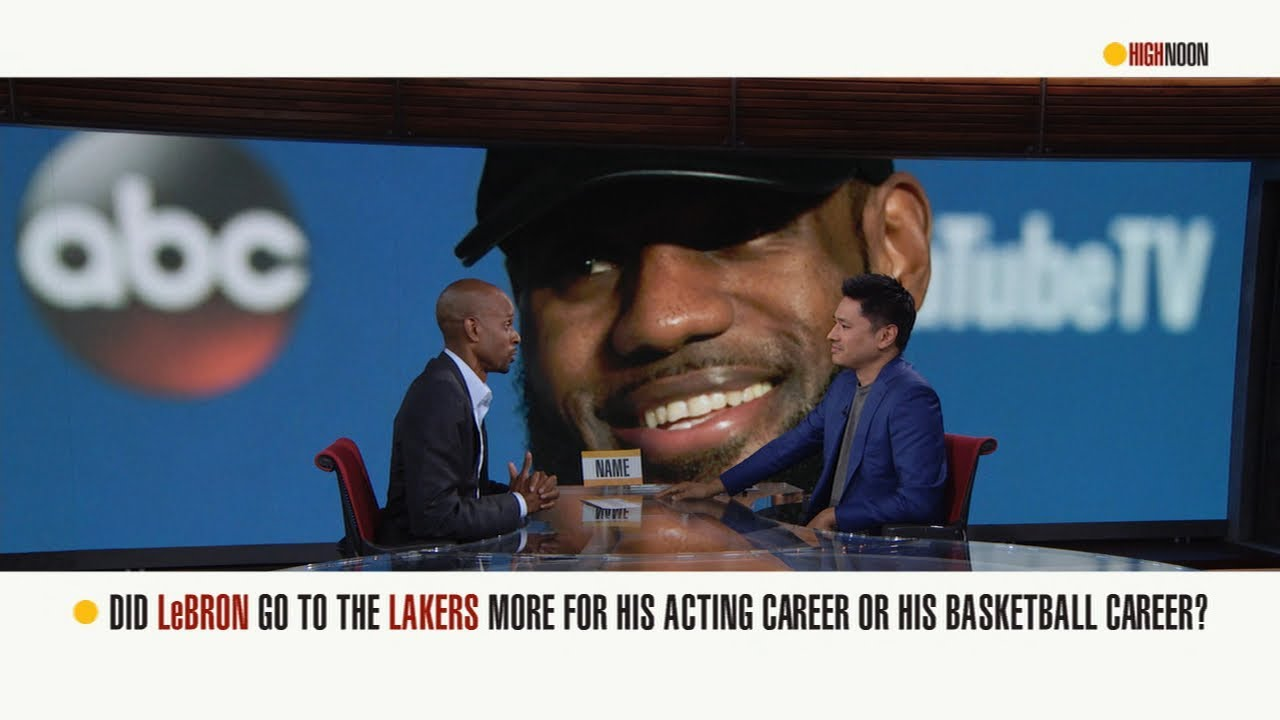 Is LeBron James playing for Lakers to further acting career? | High Noon | ESPN