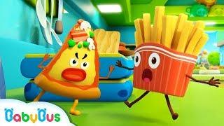 감자튀김 VS 피자 | 음식동요 |어린이노래 | 베이비버스 인기동요모음  |BabyBus