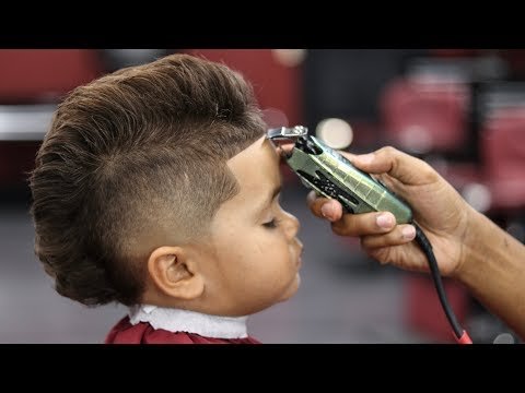 BARBER TUTORIAL: 3 YEARS OLD KID BURST MOHAWK