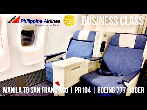 PHILIPPINE AIRLINES NEW BUSINESS CLASS MANILA TO SAN FRANCISCO | PR104 | BOEING 777-300ER