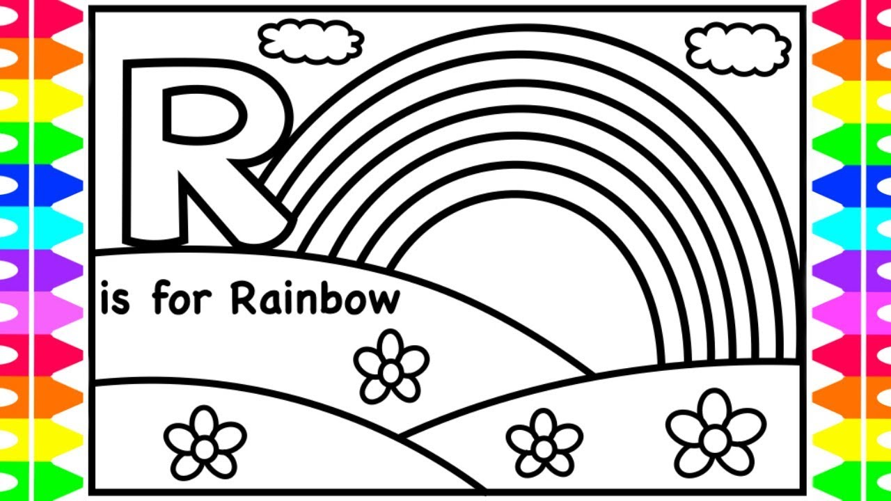 ALPHABET Coloring Page | R is for Rainbow | Learn Colors ...