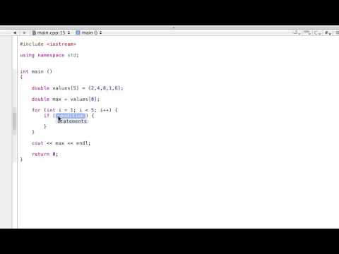 find-the-max-or-min-value-in-an-array-(c++-programming-tutorial)