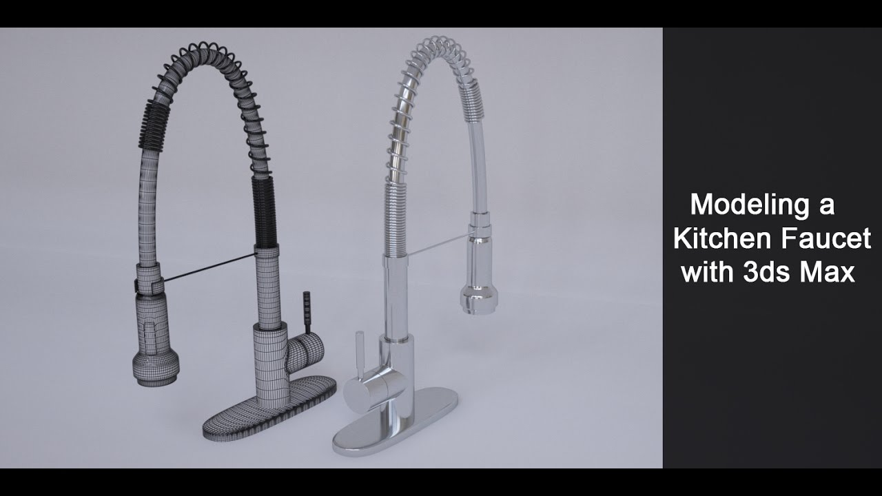 Modeling a Kitchen Faucet in 3ds Max Part 1 - YouTube