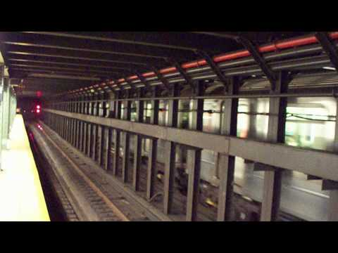 Exclusive! (2) (3) trains with New Time Arrival Signage at Eastern Parkway [HD]