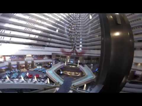 Marina mandarin hotel. Singapore. Check-in. (HD) View from 18 floor