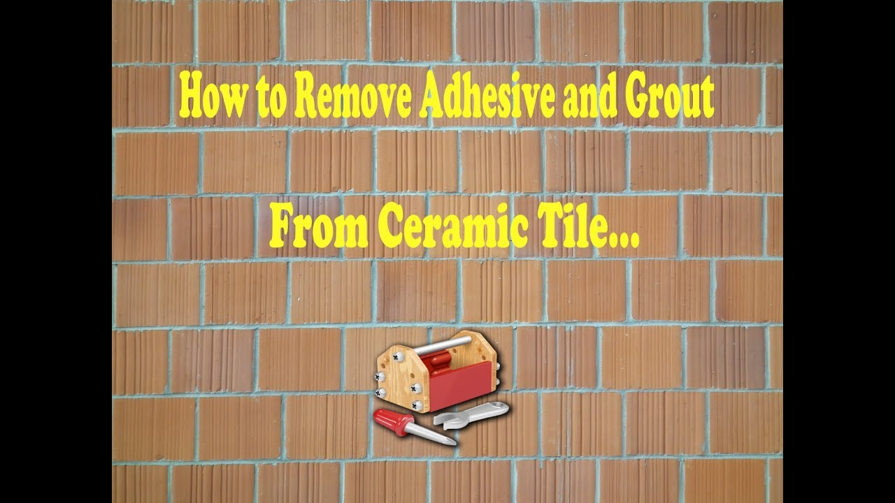 How to remove adhesive from ceramic tile youtube how to remove adhesive from ceramic tile dailygadgetfo Image collections