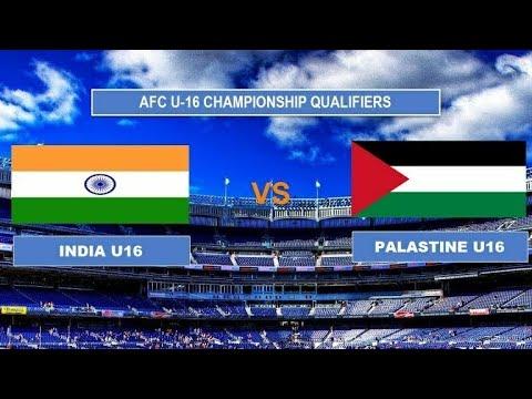 India U16 vs Palestine U16 Afc championship qualifier match