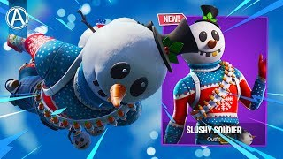 "NEW ""SLUSHY SOLDIER"" SKIN Gameplay! (Fortnite Battle Royale)"