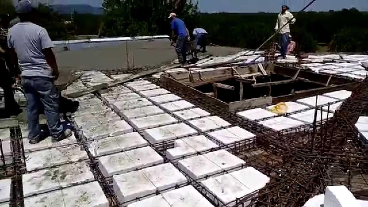 Como construir una losa colado de losa aligerada con for Como hacer una pileta de cemento