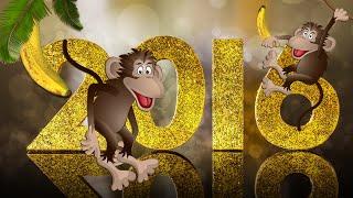 ♛Поздравляю с Новым Годом друзей и коллег! 2016 Год Обезьяны.