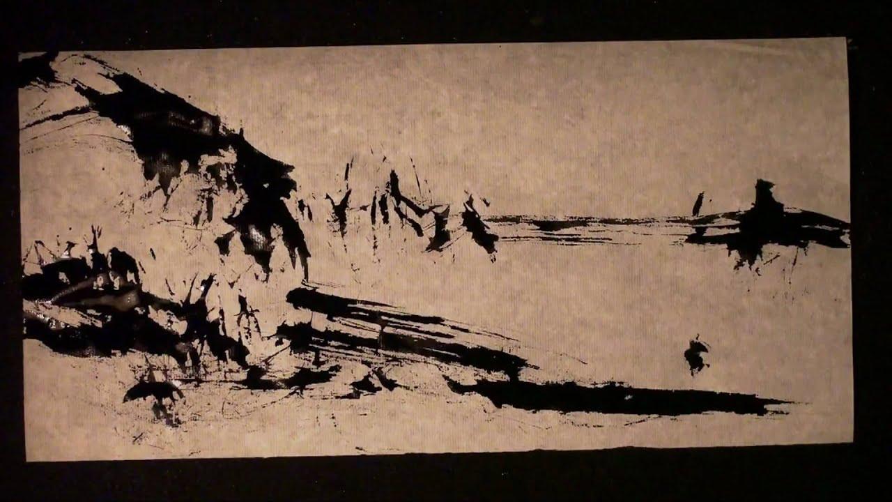 zen landscape magic of zen art sumie painting youtube