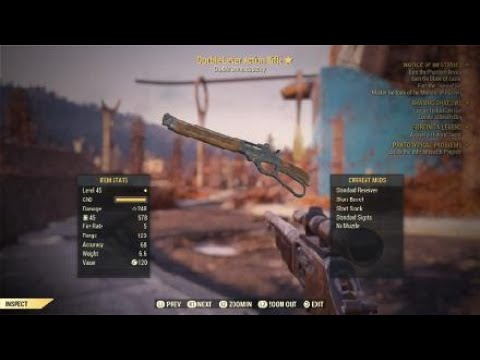 Legendary Lever action rifle Farming spot Fallout 76_2018