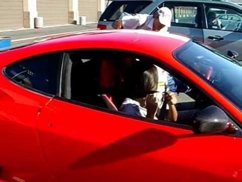 Sara - Ferrari ride.wmv