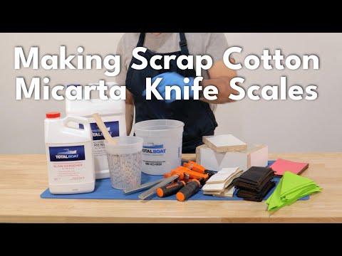 Making Scrap Cotton Micarta  Knife Scales