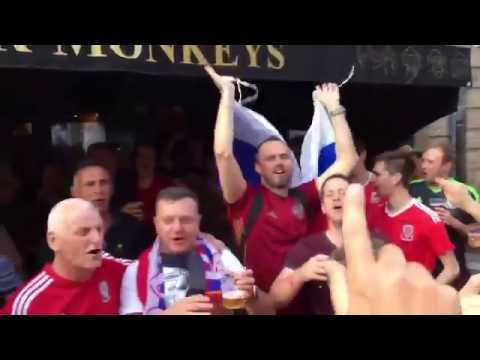 Fans singing ''Fuck off England - We Russia and Wales'' | Euro 2016