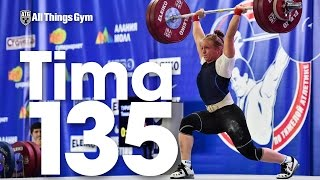 Tima Turieva (63kg) 135kg Clean and Jerk 2016 Russian Weightlifting Championships