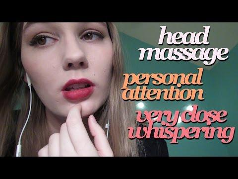 ASMR Very Close Whispering, Visual Triggers, Deep Head Massage, Anticipatory Tingles, etc