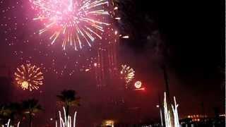 Dubai Fireworks, New Year, Burj Khalifa, Tüzijáték