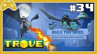 Trove #34 - Explicando as missões do Dragão e como pegar o Azulian Dragon!