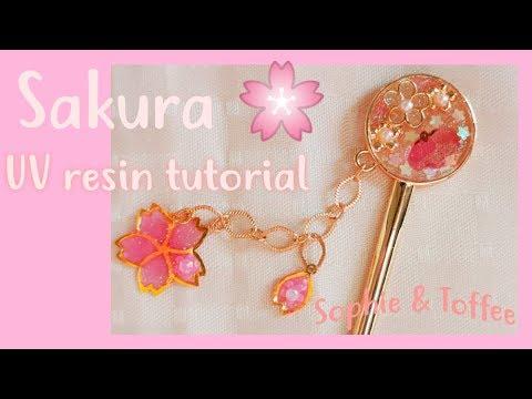 Sakura UV resin Tutorial! Creo un fermacapelli con la April Premium Elves Box di Sophie and Toffee!
