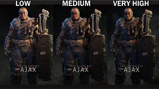 Call of Duty: Black Ops 4 Graphics Comparison (Low vs Medium vs Very High)