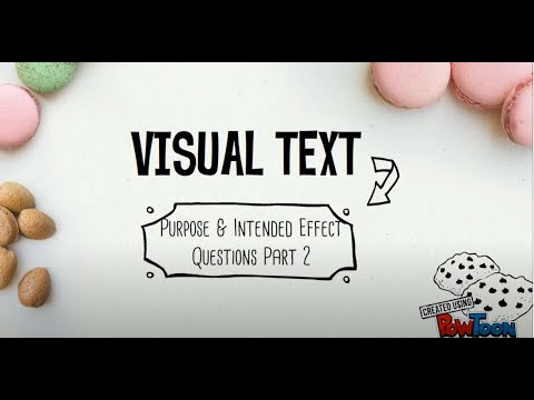 Updated O Level English Comprehension Visual Text Purpose & Intended Effect Questions Part 2