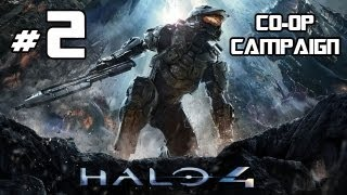 Halo 4 - Co-Op Campaign Playthrough Part 2 w/ Commentary - Warthog Shenanigans
