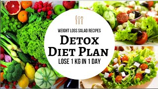 How To Lose Weight Fast 1 Kg in 1 Day | Detox Diet Plan to Lose Weight Fast | Weight Loss Salad