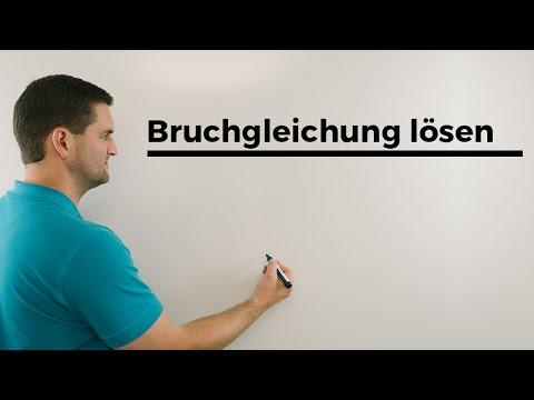 Bruchgleichung lösen (schwierige Version mit Hauptnenner) | Daniel Jung