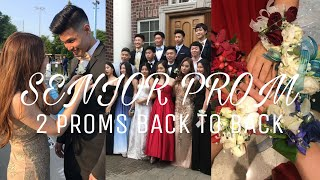 PROM VLOG: 2 SENIOR PROMS BACK TO BACK (Pre-Prom, getting ready, and pictures!)