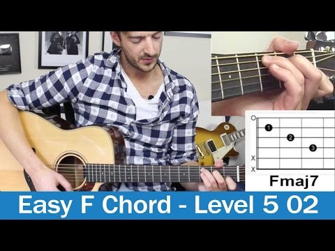 EASY F Chord Guitar Lesson Fmaj7 On Guitar (Beginners Course Level 5 02)