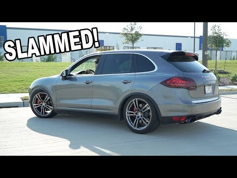 SLAMMING THE CAYENNE TURBO ($100 air suspension hack)
