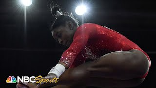 Simone Biles misses podium by 0.100 in uneven bars final | NBC Sports