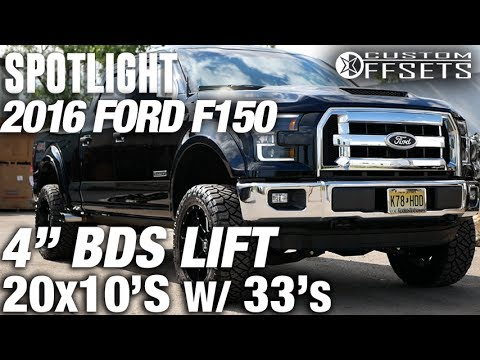 """Spotlight - 2016 Ford F150, 4"""" BDS"""", 20x10s, and 33's ..."""