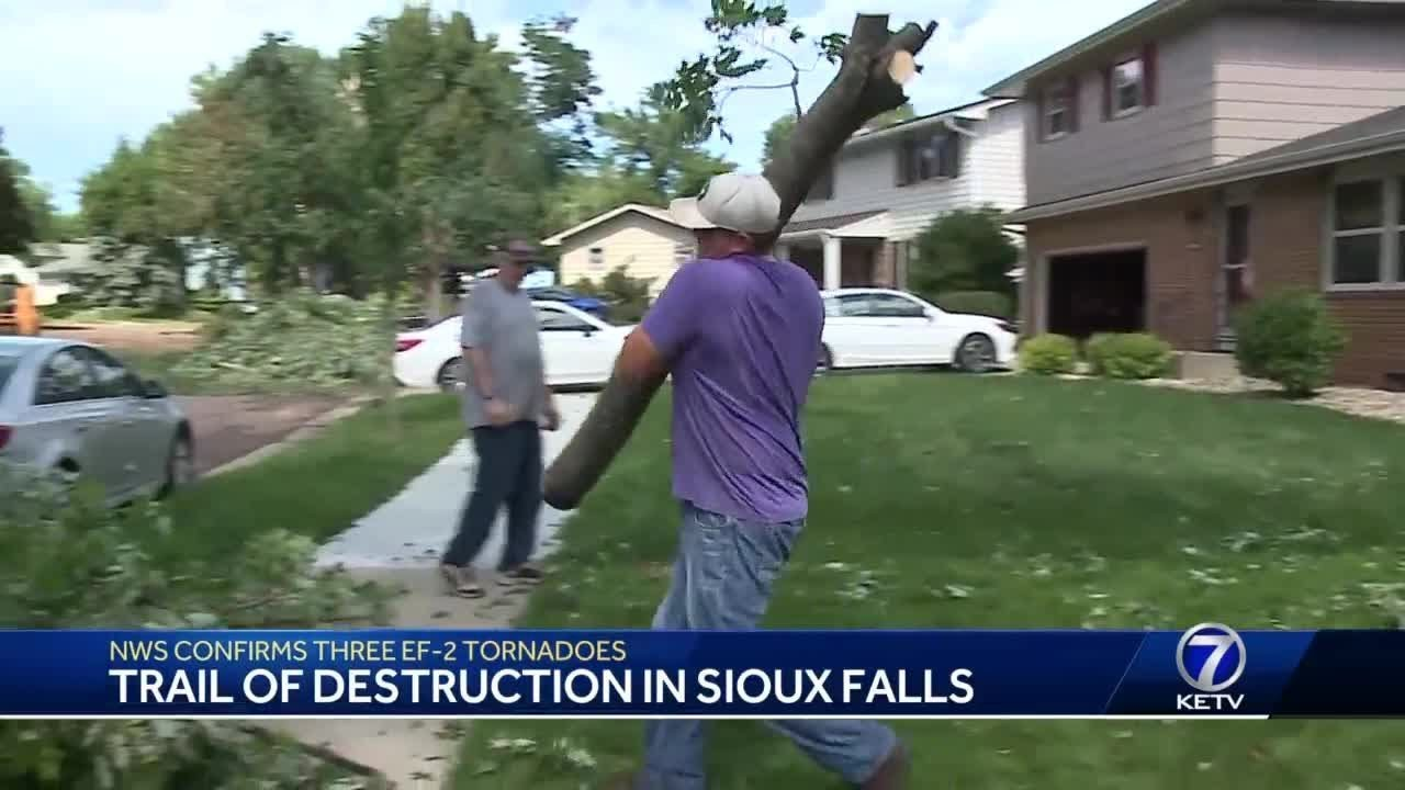 Multiple powerful tornadoes leave a trail of destruction in Sioux Falls