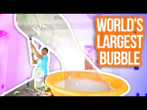 HOW TO MAKE THE WORLD'S LARGEST BUBBLE!