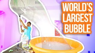 HOW TO MAKE THE WORLD'S LARGEST BUBBLE! thumbnail