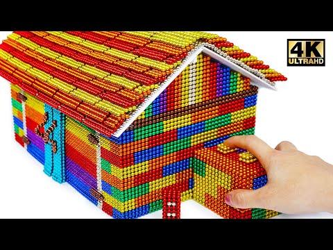 DIY - Build Mini Garage Using Mini Magnetic Balls (Satisfying) | Magnet World Series