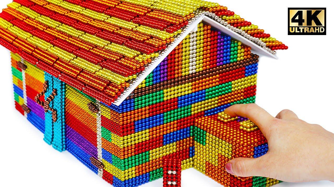 Download DIY - Build Mini Garage Using Mini Magnetic Balls (Satisfying)   Magnet World Series