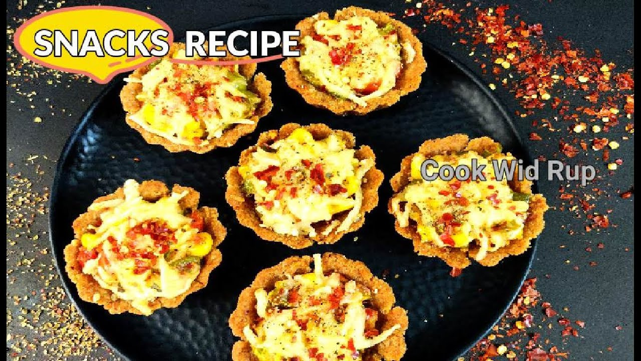 Easy Snacks Recipe   Pizza Tart cups   Quick snacks for starters   Starters Recipe    Cook Wid Rup