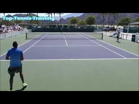 Nick Kyrgios & Tim Kpulun Hitting | Court Level