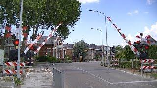Spoorwegovergang Uithuizermeeden // Dutch railroad crossing