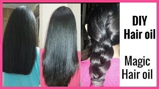 MAGIC HAIR GROWTH OIL-  Stop Hair Fall & Reverse Grey Hair /HOMEMADE HERBAL HAIR OIL