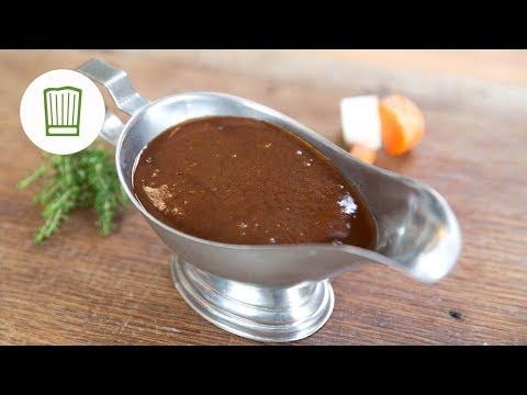 Braune Jus & Demi Glace Sauce herstellen | Chefkoch.de