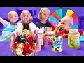 Mystery Wheel of Ice Cream Toppings Sundae Challenge!