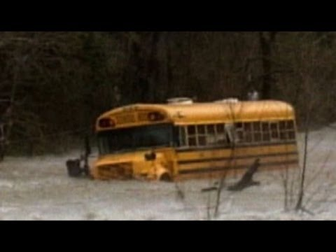Weather Caught On Camera: Flooded Bus