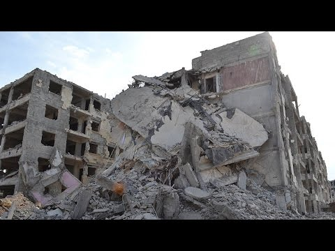 CBC tours destruction in Aleppo - RAW VIDEO
