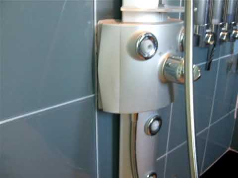 Hansgrohe shower panel leak - part 2 - YouTube