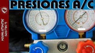 PRESIONES normales para el Aire Acondicionado (de referencia)