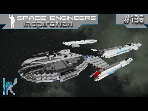 Space Engineers Inspiration - E190: U.S.S. Nevada, Solar Bug, & 8841 Personal Space Station